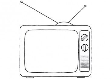 Hand Drawn Line Art Old Tv Free Vector Download Old Tv How To Draw Hands Line Art