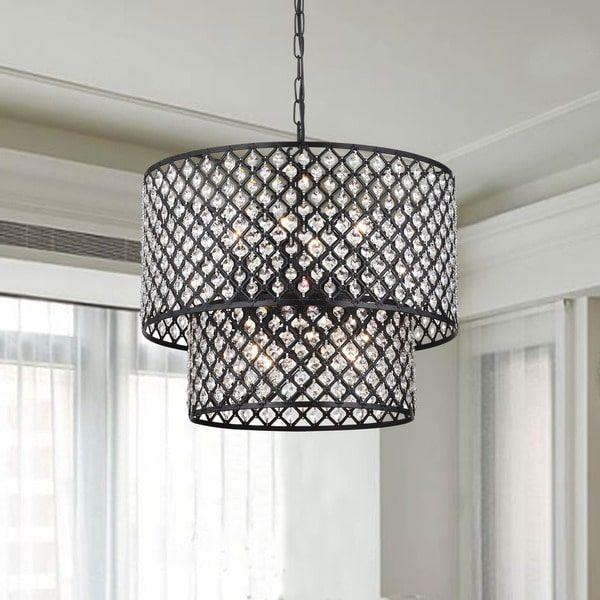 Antique bronze 8 light double round crystal chandelier lighting antique bronze 8 light double round crystal chandelier audiocablefo
