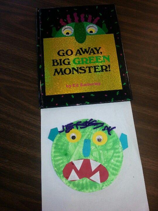 Go Away Big Green Monster Craft Halloween Preschool Winter Activities Preschool Monster Crafts