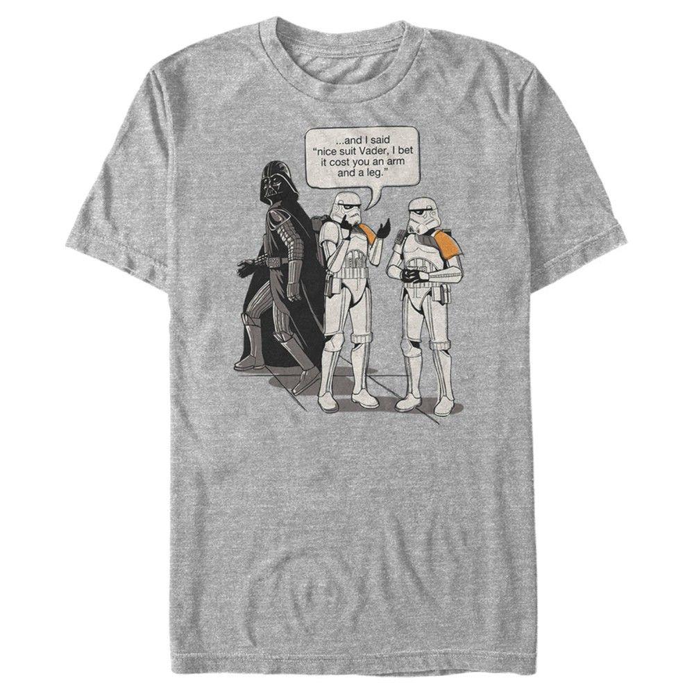 Fifth Sun Mens Star Wars Short Sleeve Crew T-shirt - Gray 2X Large