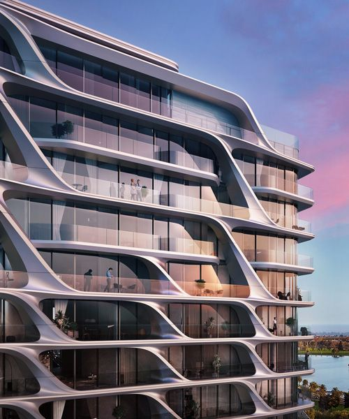 zaha hadid architects integrates curvilinear fa ade in melbourne landscape futuristic. Black Bedroom Furniture Sets. Home Design Ideas