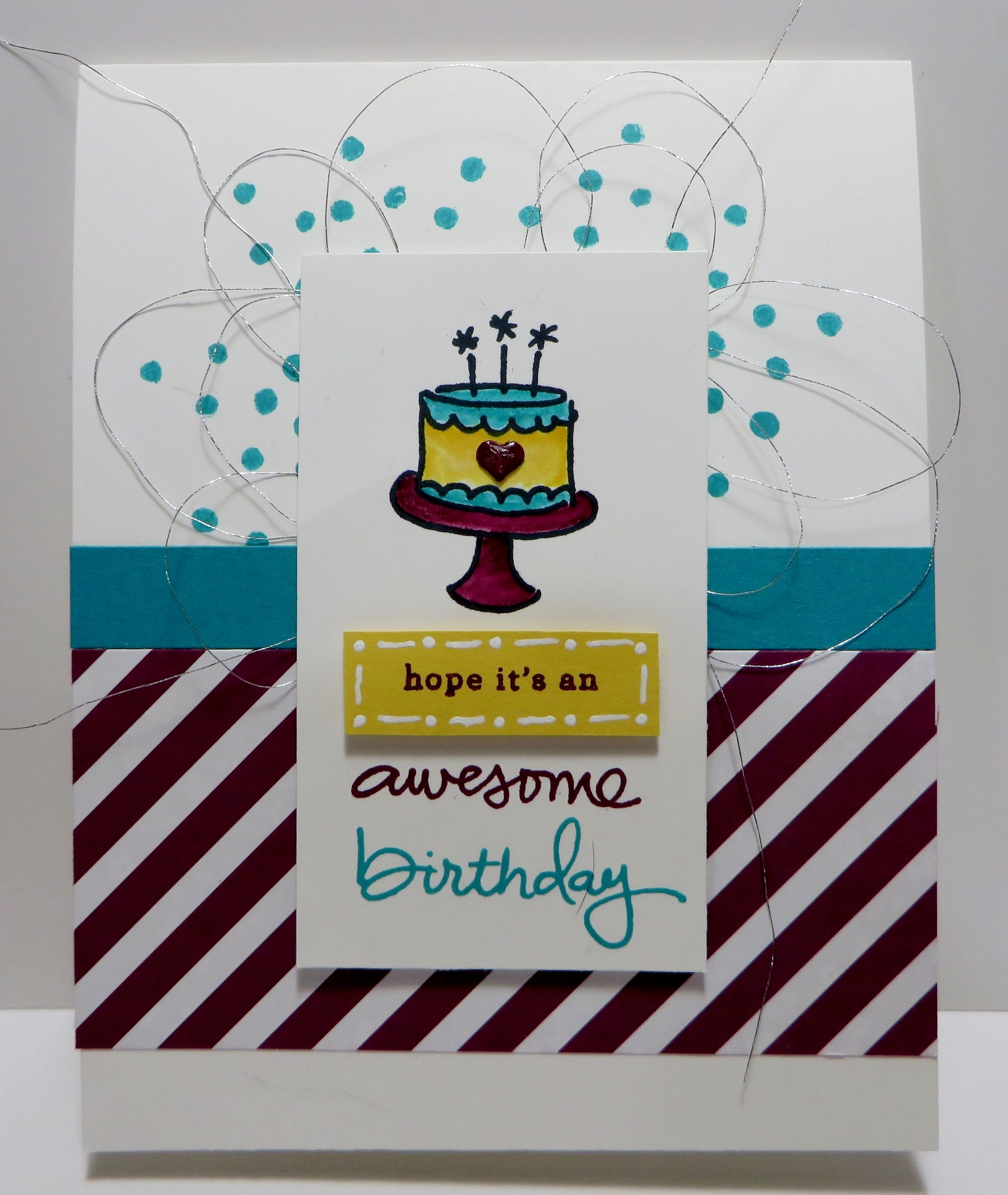 Stampinu up endless birthday wishes card made by lynn gauthier go