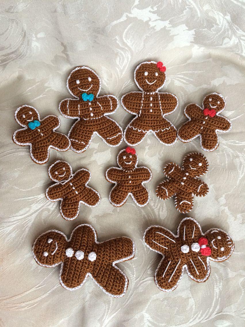 Gingerbread family - Crochet Christmas | Weihnachtsornamente ...