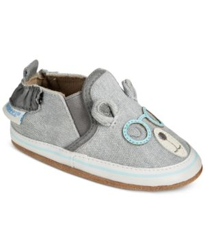 3538ddf3 Robeez Soft Soles Brainy Bear Shoes, Baby Boys (0-24 months) - Gray 12-18  months