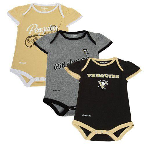 Reebok Pittsburgh Penguins Newborn Little Lady 3-Pack Creeper Set ... d970cb9cd
