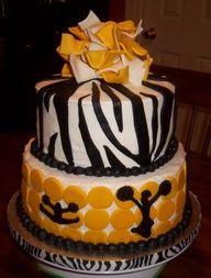 Zebra Stripe Cheer Cake