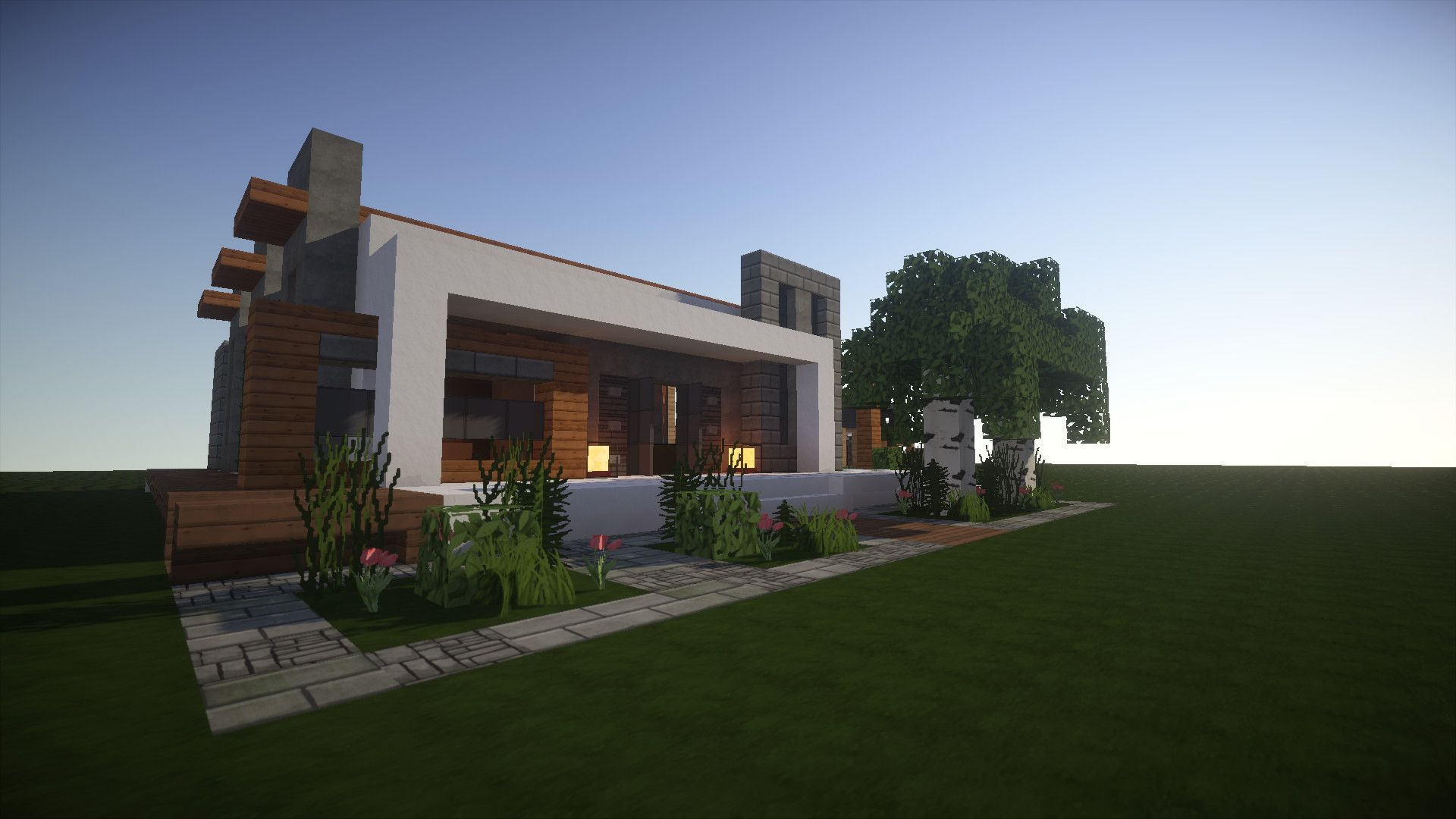 I like modern houses in Minecraft They give a good contrast to