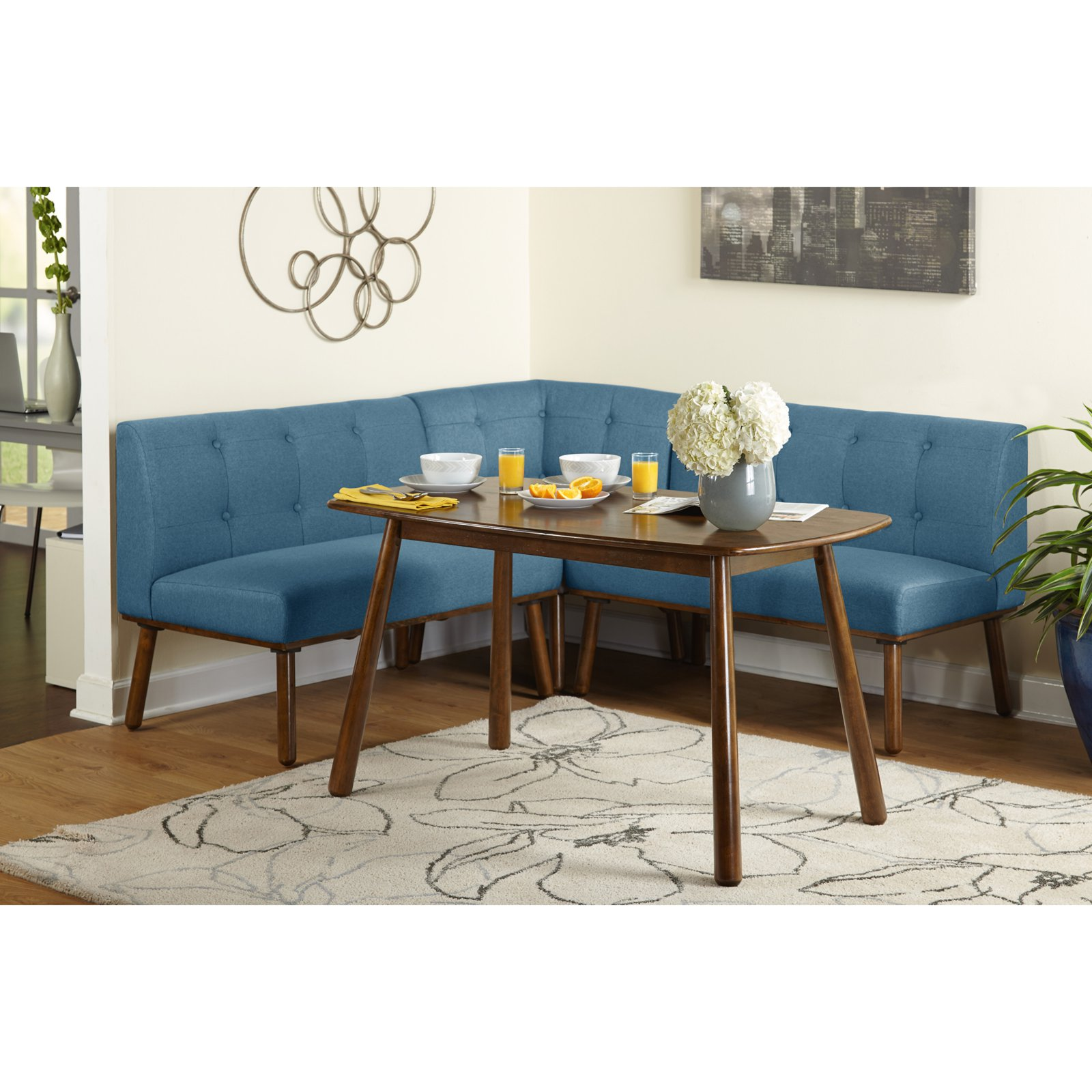 Target Marketing Systems Playmate 4 Piece Nook Dining Table Set