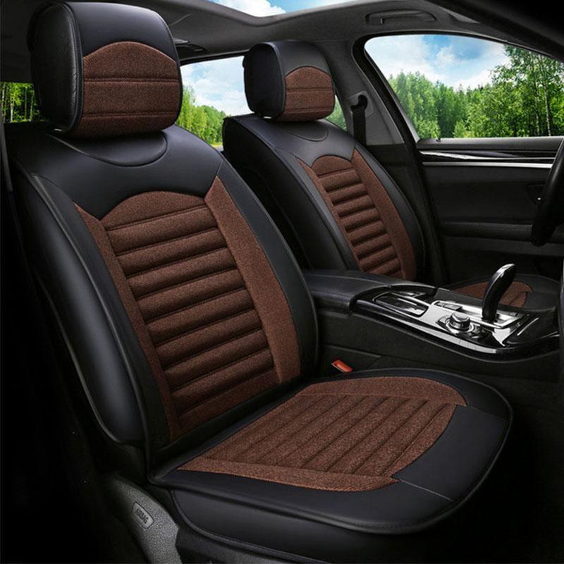Universal Car Seat Cover Seats Covers For Dodge Caliber Caravan Journey Avenger Ram 1500 Intrepid Str Car Seats Leather Car Seat Covers Car Interior Upholstery