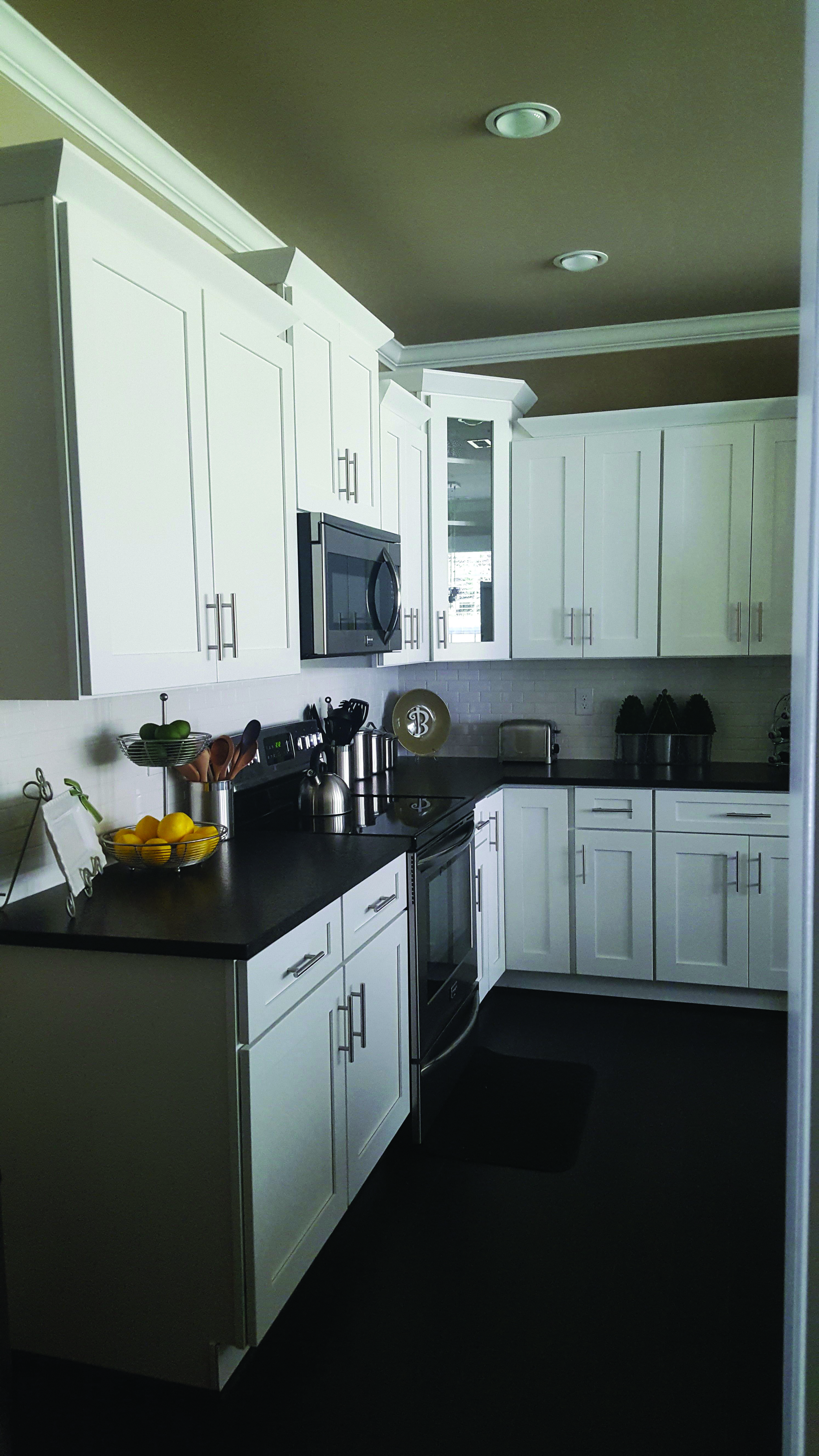 Black Pearl Marble | Leather granite, White cabinets black ...