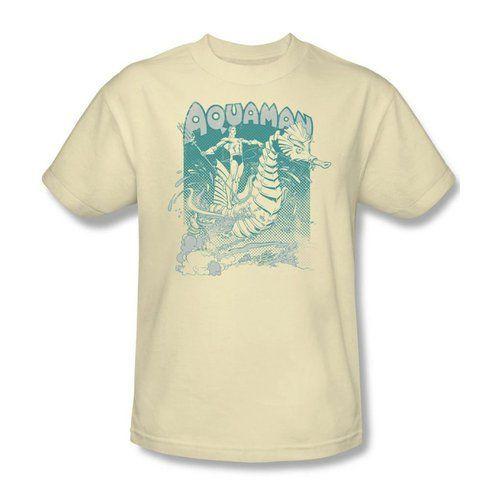 Aquaman Catch a Wave Vintage Cream T-shirt