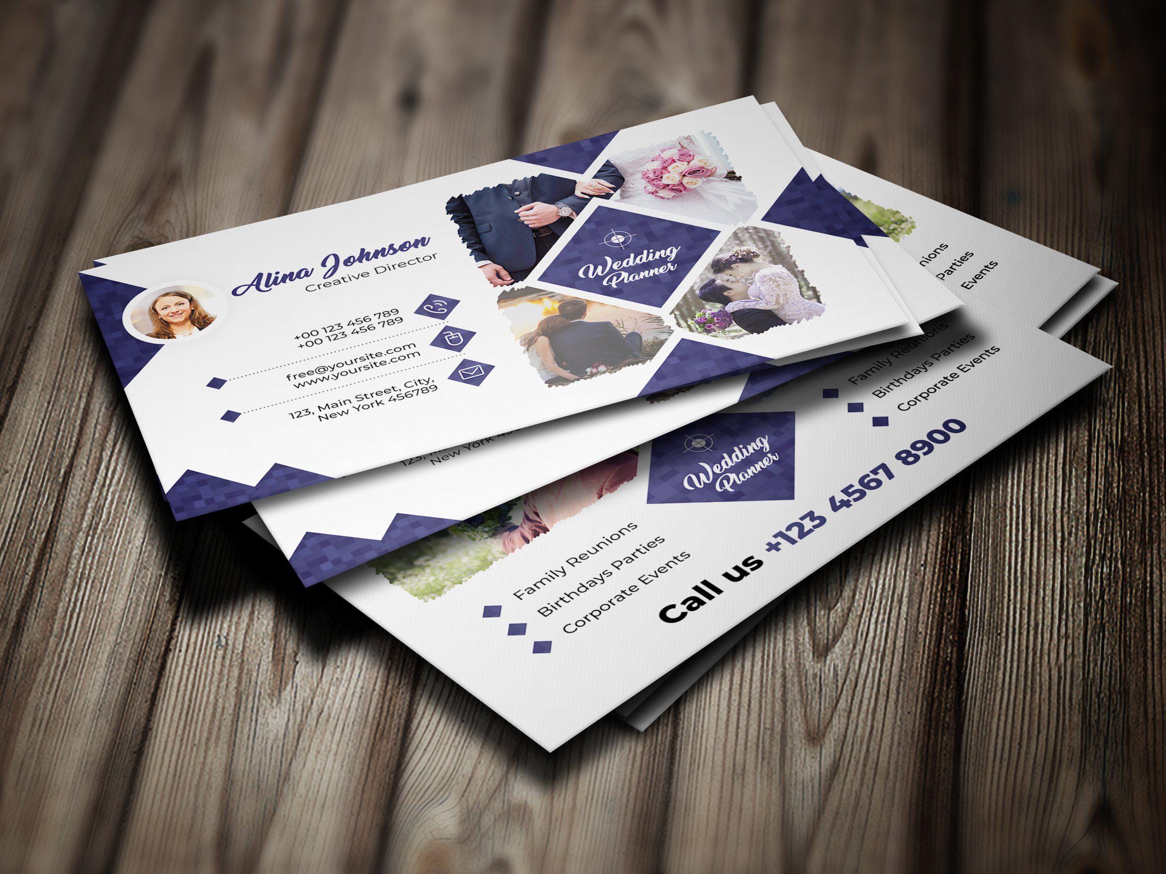 Wedding Planner Business Card Wedding Planner Business Card Professional Business Card Design Wedding Planner Business