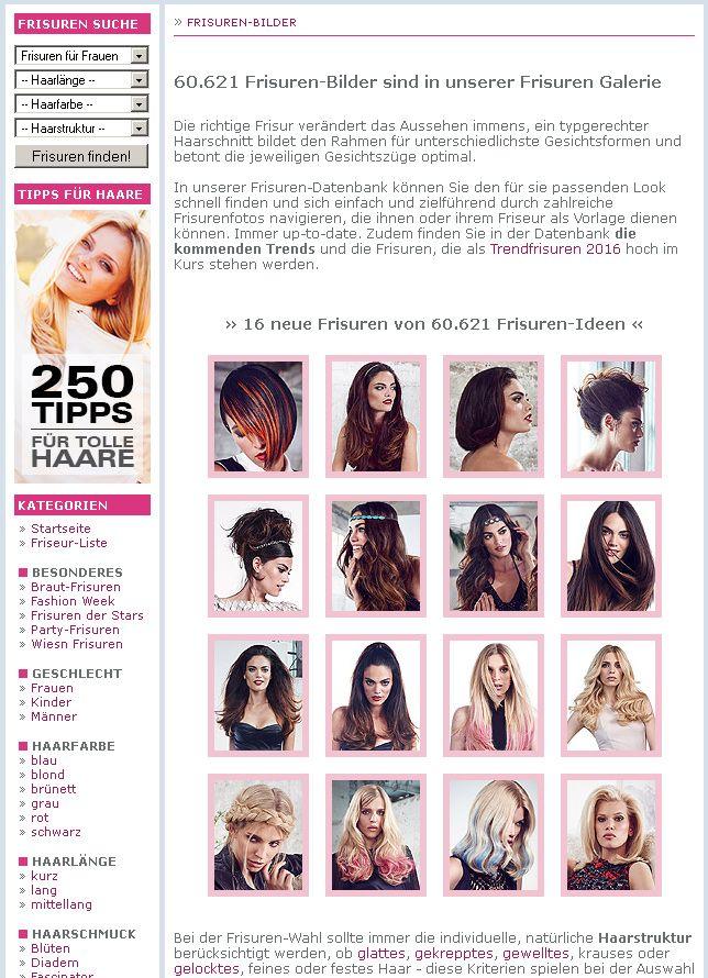 Frisuren Trends Und Bilder Uber 11 000 Haarschnitte Als Fotogalerie Frisuren Finder Frisuren Haar Styling