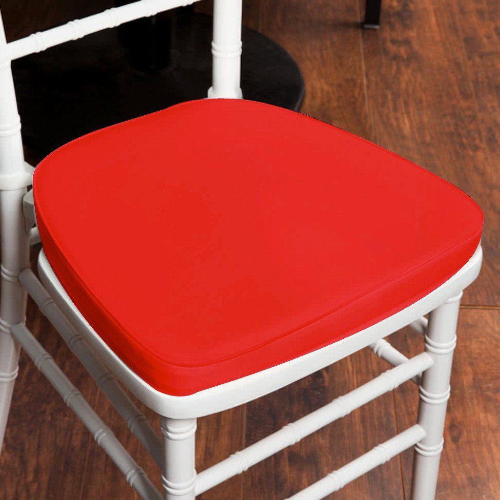 Chair Pad Seat Padded Red Sponge Cushion With Poly Thread Soft Fabric Straps And Removable Zippered Cover Chair Pads Chair Cushions Seat Pads