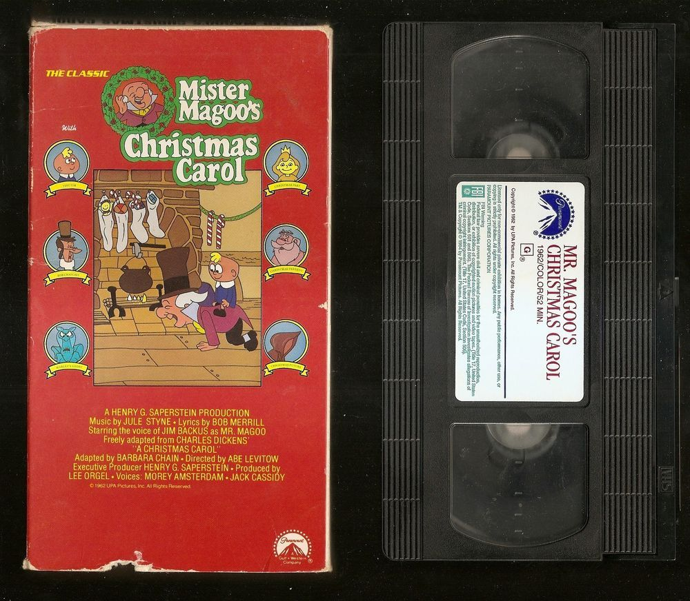 Mr. Magoo\'s Christmas Carol (VHS, 1994) 1962 color 54 min Rated G ...