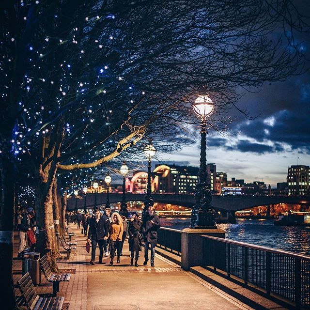 LONDON. Winter lights  #London #Southbank #sunset