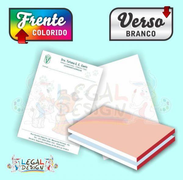 10 BLOCOS Receituários Off-Set 15x20cm 4/0 Colorido - Legal Design Arte Gráfica Digital