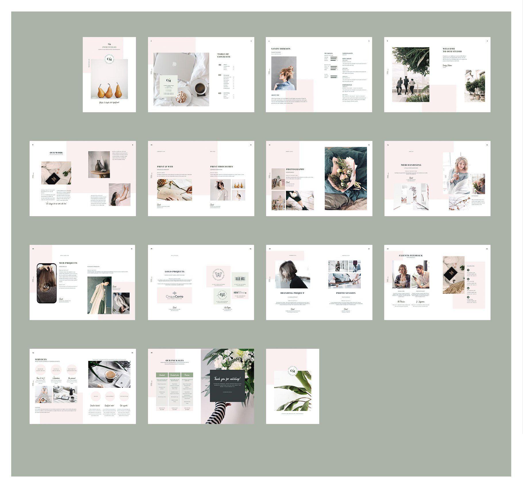 Stunning Portfolio Template For Indesign