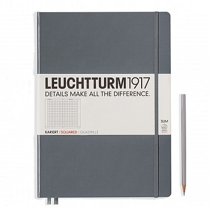 Maybe my next journal???  Notebook Master Slim (A4+) Hardcover, 121 numbered pages, squared, anthracite