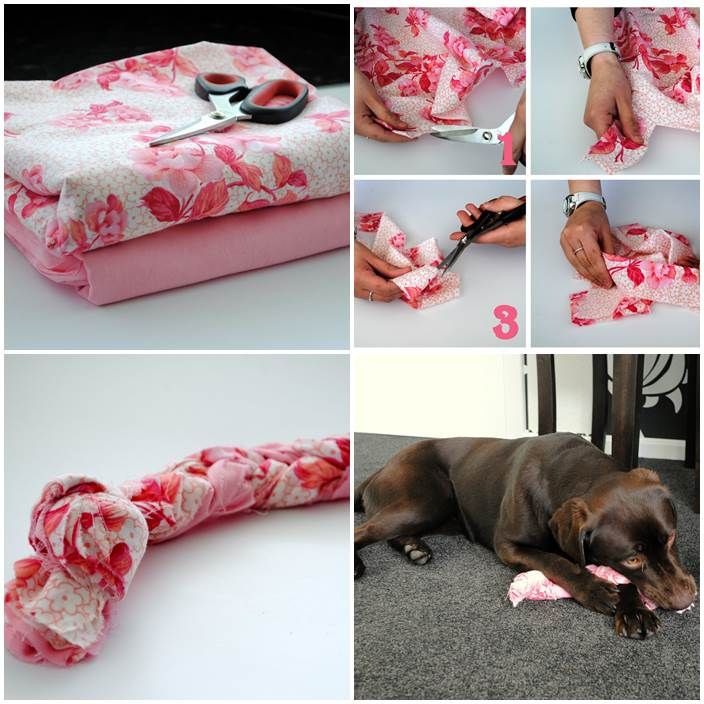 Diy Dog Pull Toy With Images Old Bed Sheets