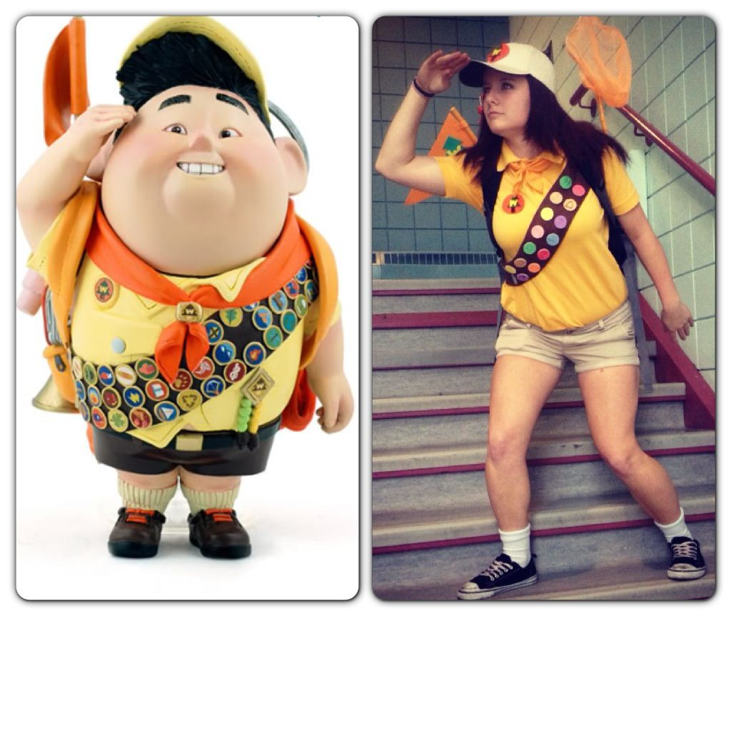 Home made Halloween costume! Russell from the cartoon Up!
