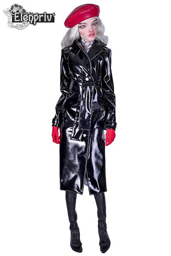 5c9265282d ELENPRIV black patent leather trench coat with wide belt and full lining  for PashaPasha dolls