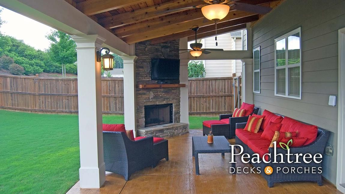 Image Result For Shed Roof Porch With Fireplace Porch Fireplace