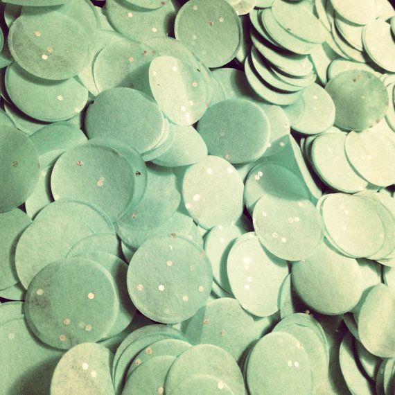 Paillettes confettis / tissu papier confetti / / / par PomLove
