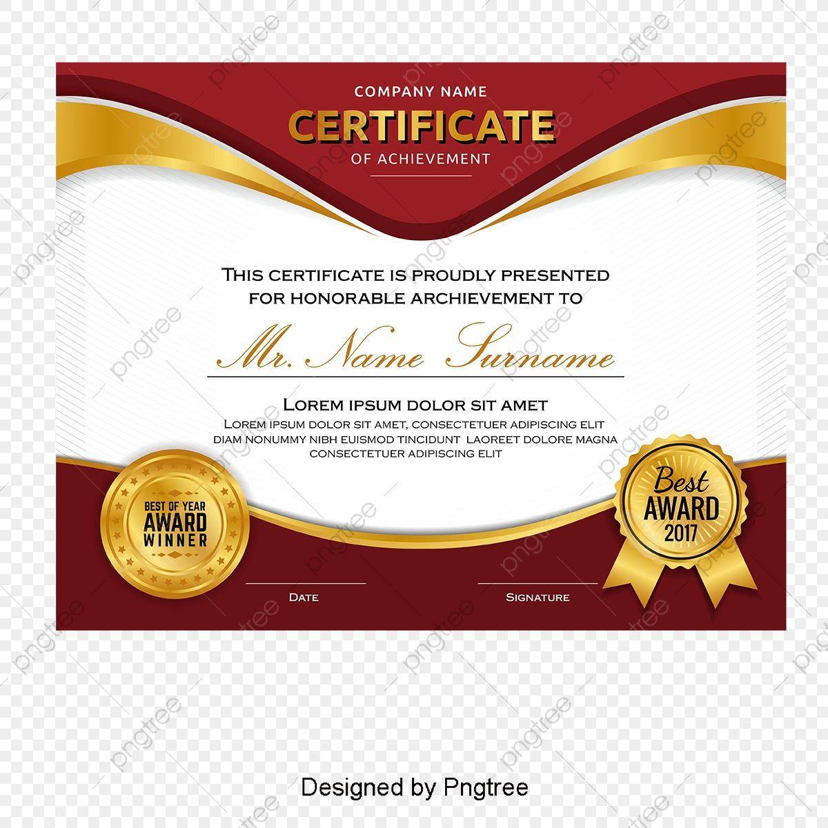Atmospheric High End Certificate Certificate Template Training Certificate English Certificate Png And Vector With Transparent Background For Free Download Sertifikat Penghargaan Desain Pamflet Brosur