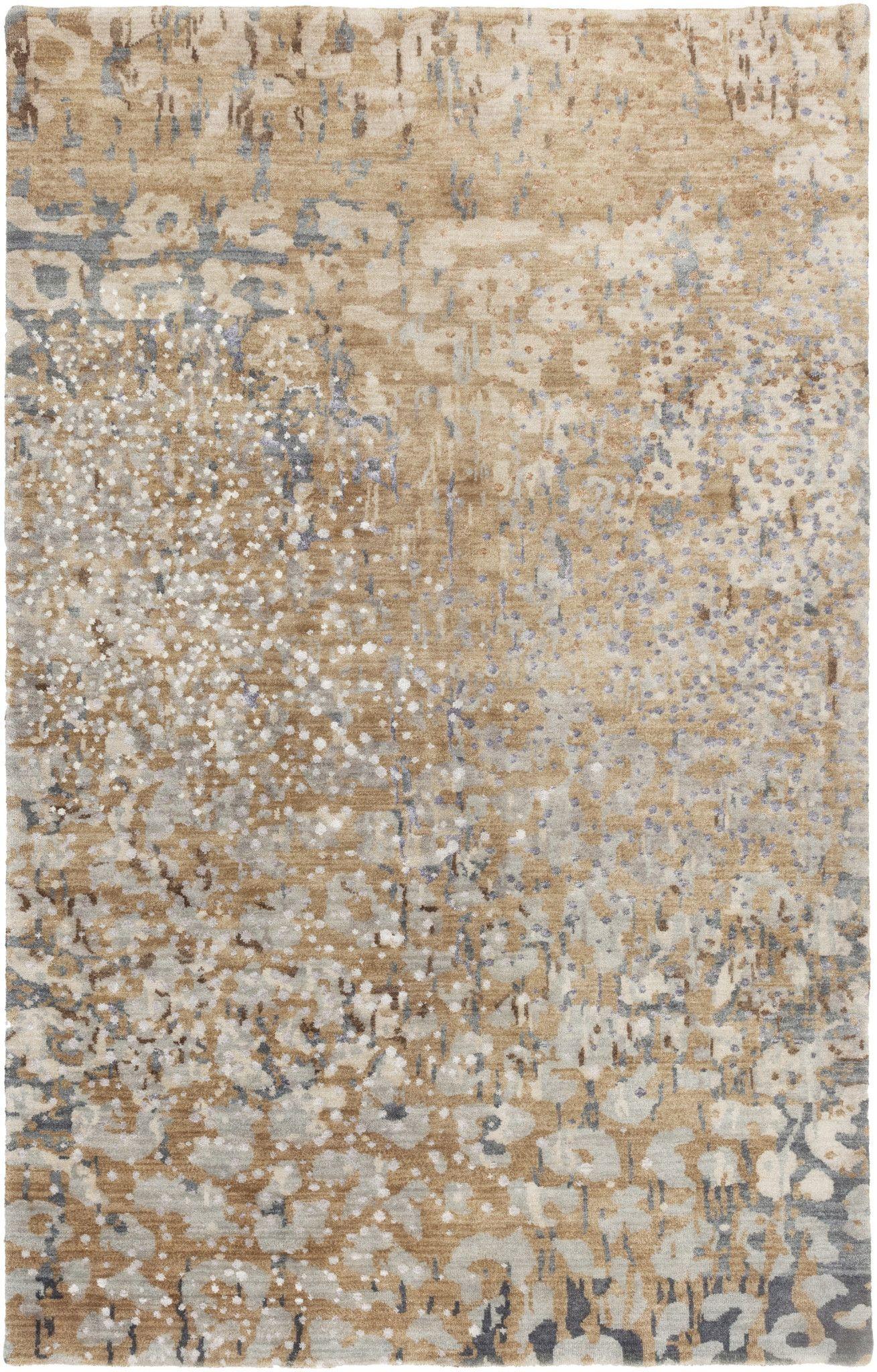 Surya Watercolor Wat5013 Brown Neutral Modern Area Rug Modern