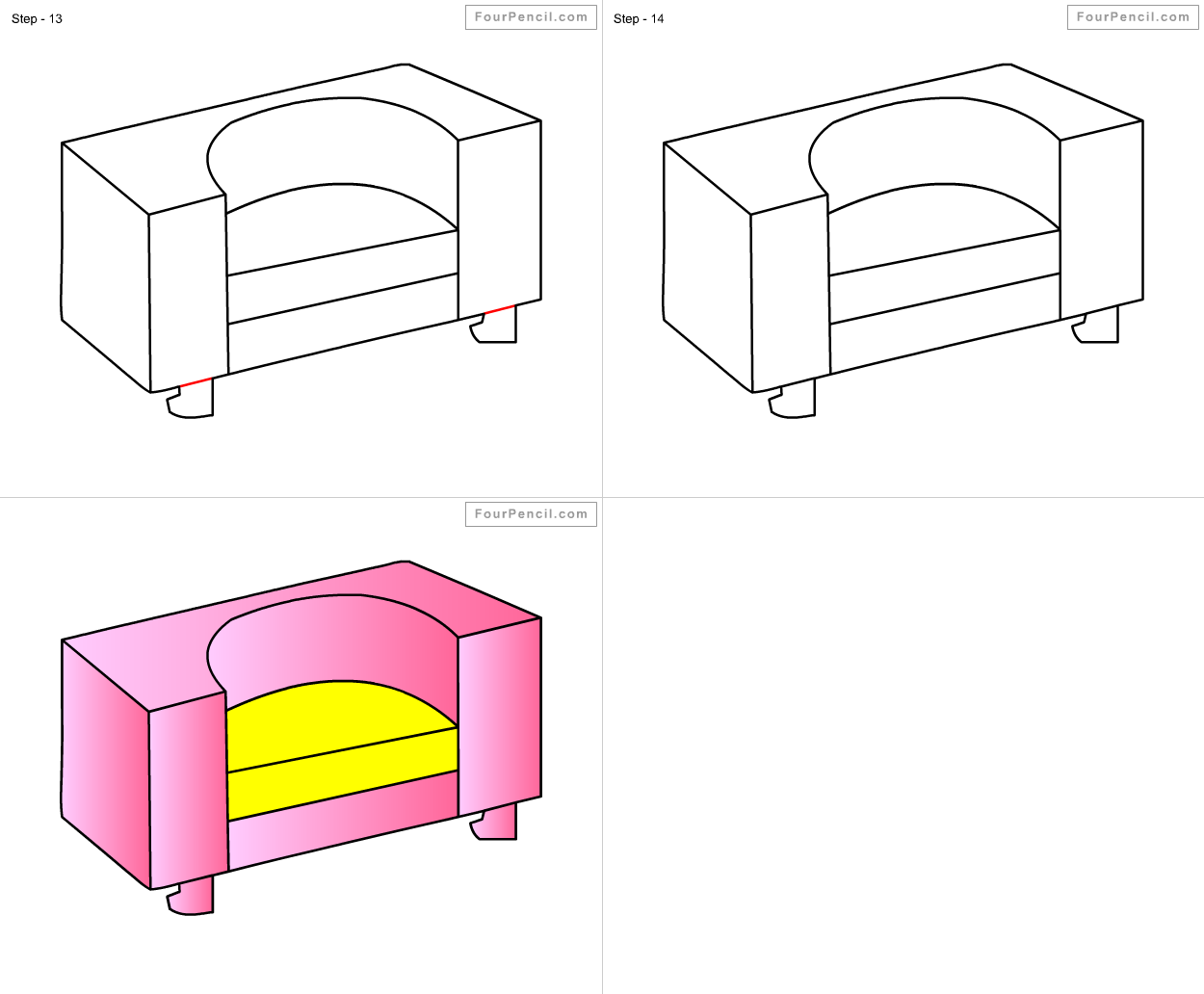 How to draw Armchair for kids step by step drawing ...