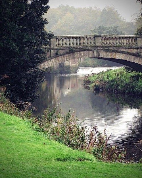 Bridge inside Pollock Country Park in Glasgow, Scotland