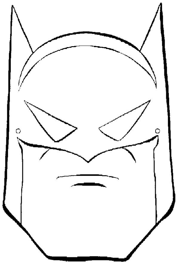 Batman Mask Coloring Page Coloring Sky Batman Coloring Pages Batman Valentines Batman Mask