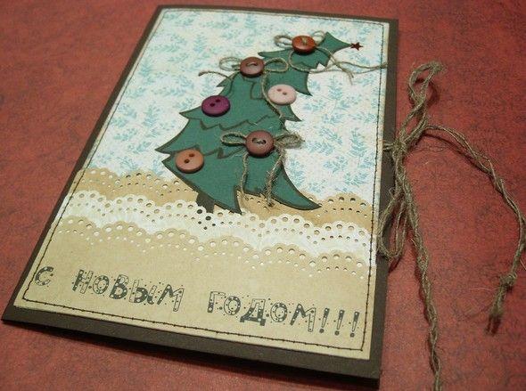 Открытка на Новый год (3)   Открытки, Открытки своими ...