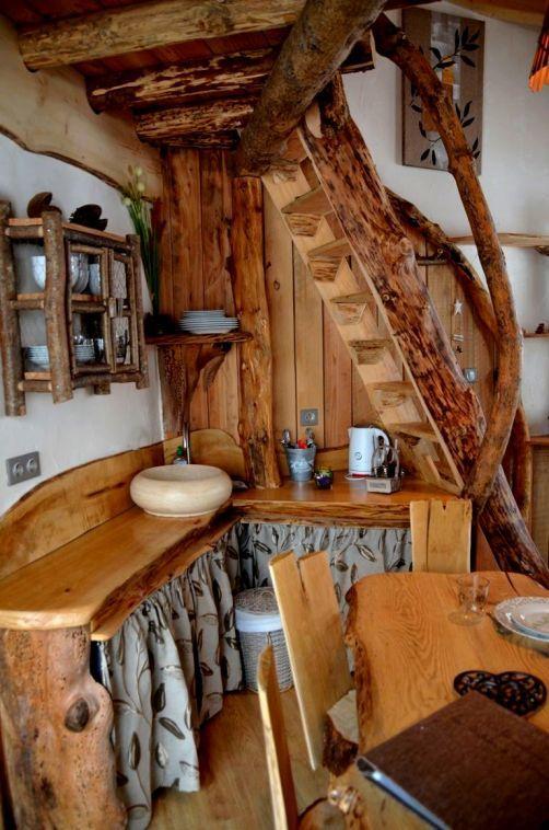 Lorraine #Vosges  intérieur du0027une cabane insolite à Bol du0027Air
