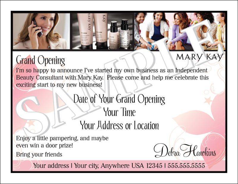 Mary kay business debut invitation mary kay pinterest for Mary kay invite templates