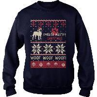 English Mastiff Christmas Woof