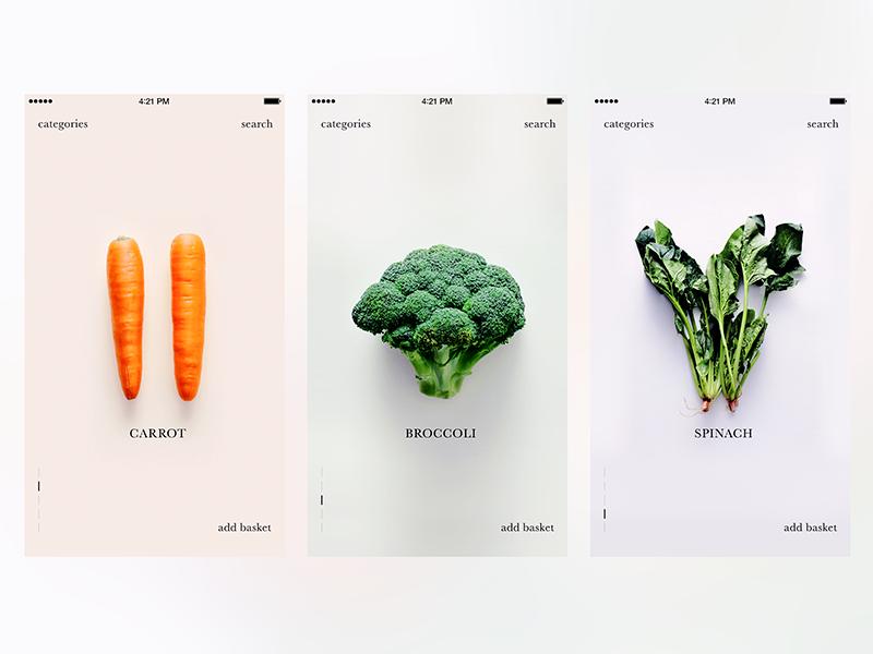 Pure Design - Vegan App by Meray UYANIK | Design Hash | App