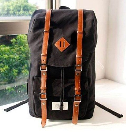 UNISEX's BLACK Top Quality Canvas Backpack School « MyMallHome.com – Closest Shopping Mall on the Internet