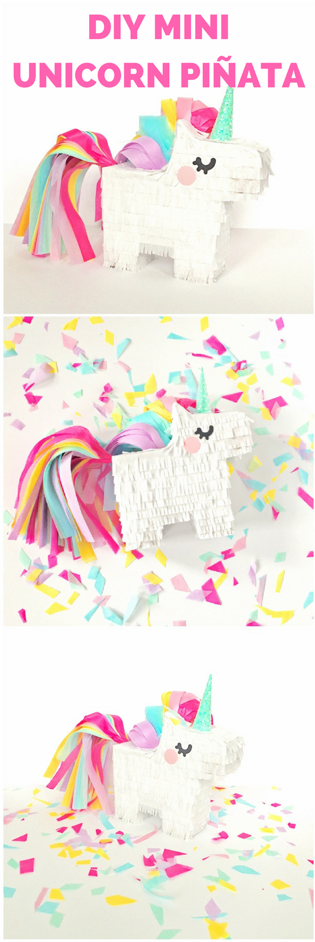 Populaire DIY Mini Unicorn Pinata with Free Printable Template. Learn how to  PU25