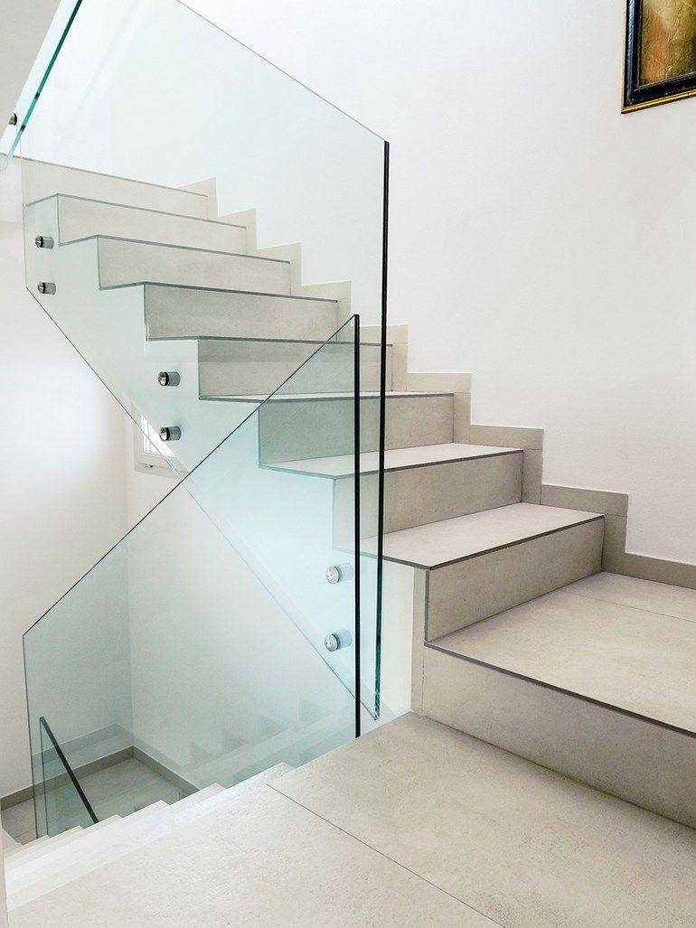 Porcelain stoneware staircase cladding by dsg ceramiche dsgceramiche barandales pinterest - Scale gres porcellanato ...