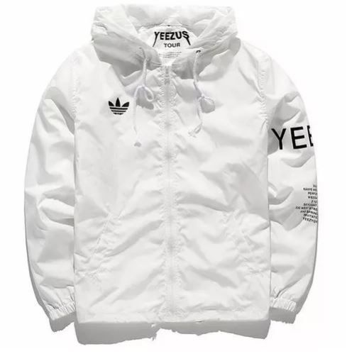 YEEZUS WINDBREAKER WHITE | Windbreaker jacket mens