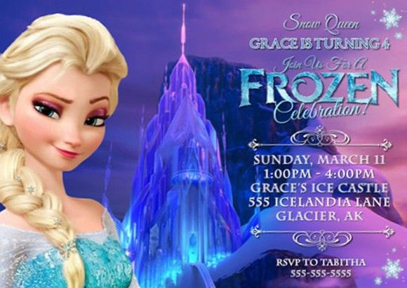 Frozen Birthday Party Invitation Birthdays Pinterest Frozen