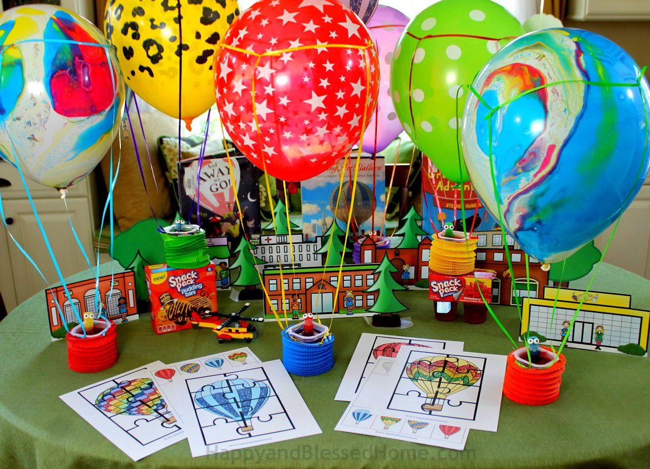 Fun Hot Air Balloon Activity Pack For Kids And Fun Hot Air