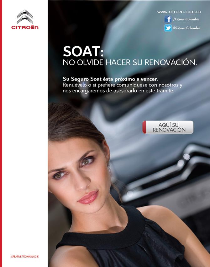 Renovación de SOAT: Campaña realizada para Citroen