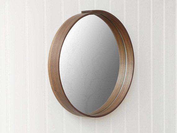 Runder Spiegel Wandspiegel Eiche Oder Nussbaum Mirror Mirror Wall Round Mirror Bathroom