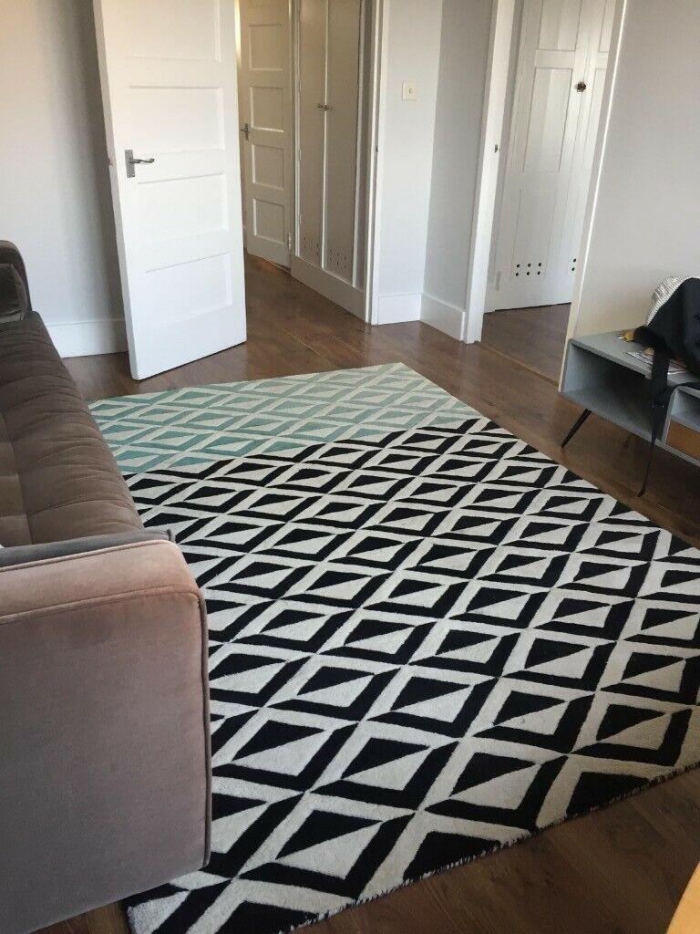 Made Com Large Geometric Area Rug In Hackney London Gumtree Geometric Area Rug Used Stuff For Sale Carpet Flooring