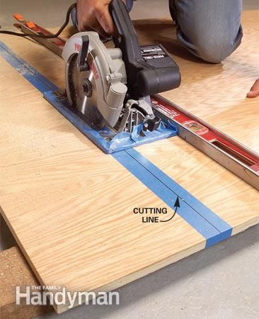 Create Circular Saw Cutting Guides For Plywood