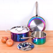 Home Cookware Set Rainbow Kitchen Pots And Pans