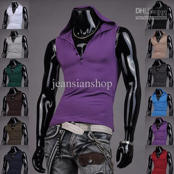2aecb8aa2f08a2 Wholesale Tank Tops - Buy Mens T-Shirts Weste Undershirt Spaghetti Strap  Tank Tops Slim Man Hoodie Muscle Vest New S M L XL T 8362